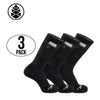 TCK Brands Stash & Dash Performance Zip Pocket Crew Socks - 3 Pair Pack