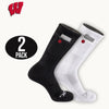 University of Wisconsin Stash & Dash Zip Pocket Performance Crew Socks - 2 Pair Pack