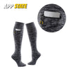 Appalachian State University Miss Zippy Zip Pocket Knee High in Charcoal/Black Random Knit