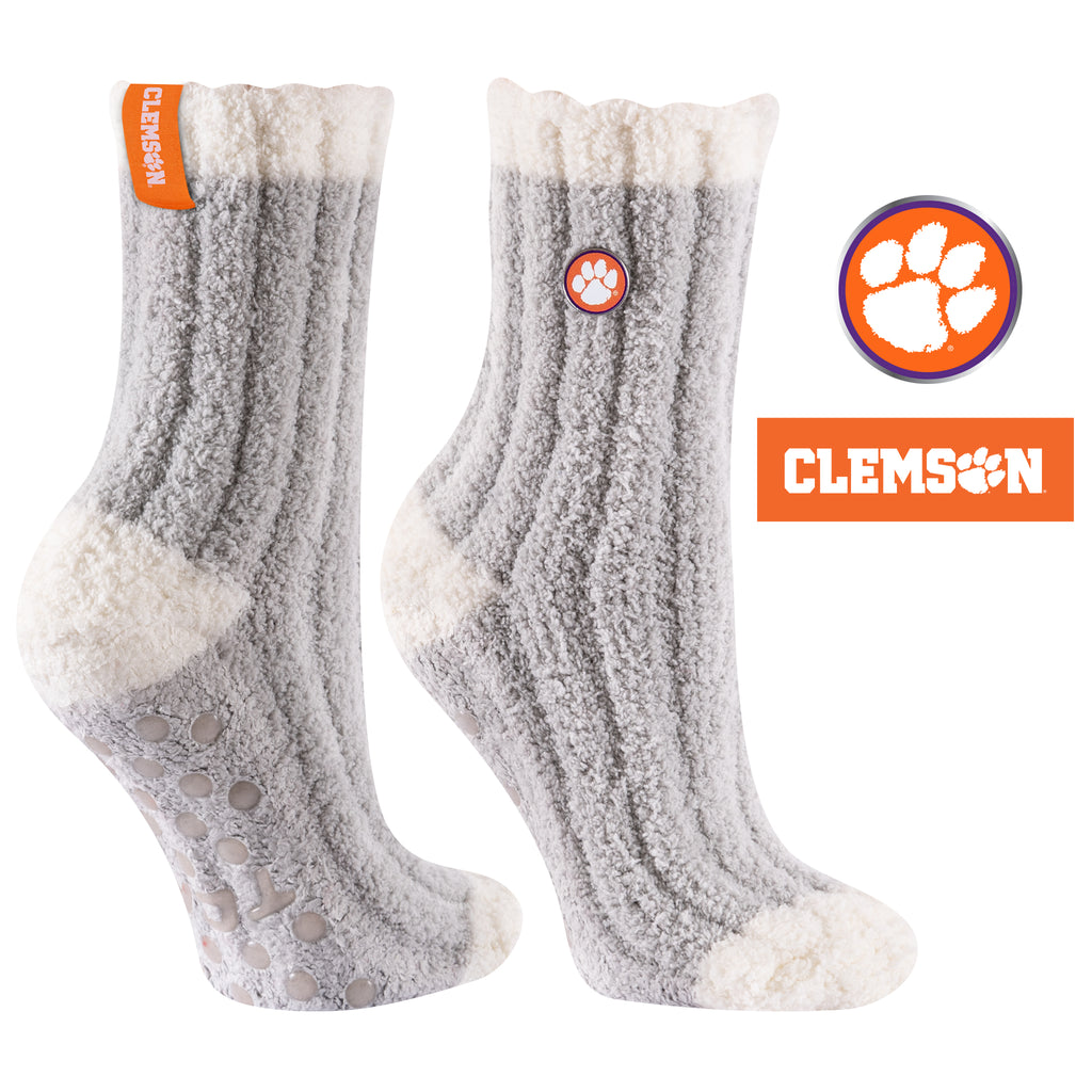 Clemson University Warm Fuzzy Cozy Crew Socks