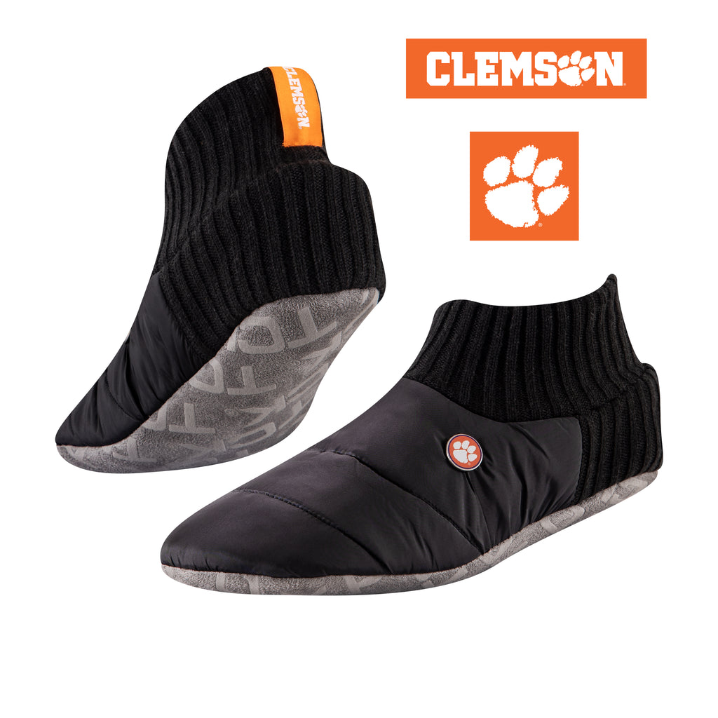 Clemson University Happy Camper Cozy Slipper Socks
