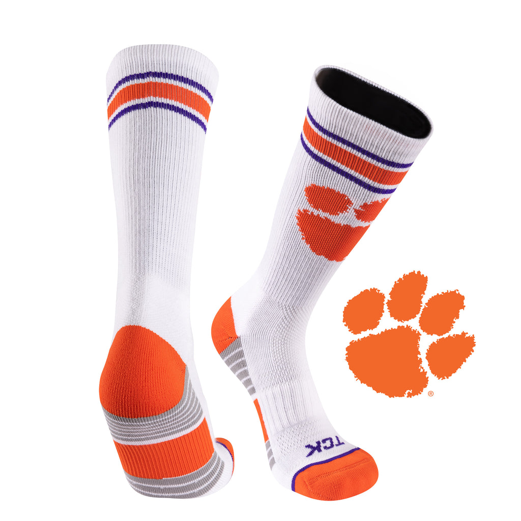 Clemson University Greekster Performance Athletic Crew Socks
