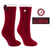 University of Alabama Miss Chalet Cable Knit Cozy Slipper Sock