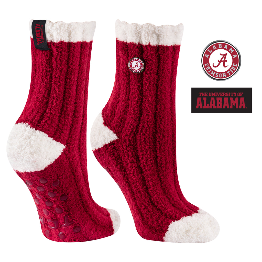 University of Alabama Warm Fuzzy Cozy Crew Socks