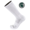 Michigan State University Stash & Dash Zip Pocket Performance Crew Sock in White