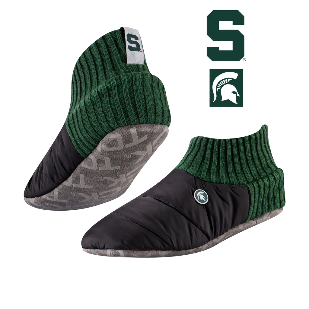 Michigan State University Happy Camper Cozy Slipper Socks