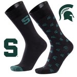 Michigan State University A Monday and a Tuesday 2-Pack Dress Socks