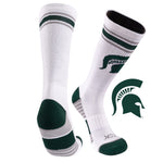 Michigan State University Greekster Performance Athletic Crew Socks
