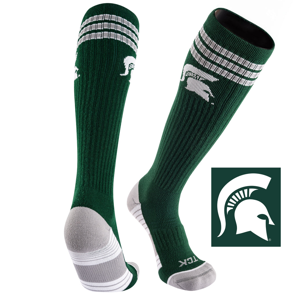 Michigan State University Old School Over the Calf Performance Athletic Socks