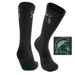 Michigan State University Far Trek Full Cushion Pure Merino Wool Crew Socks