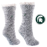 Michigan State University Snow Christie Sherpa-Lined Cozy Slipper Socks