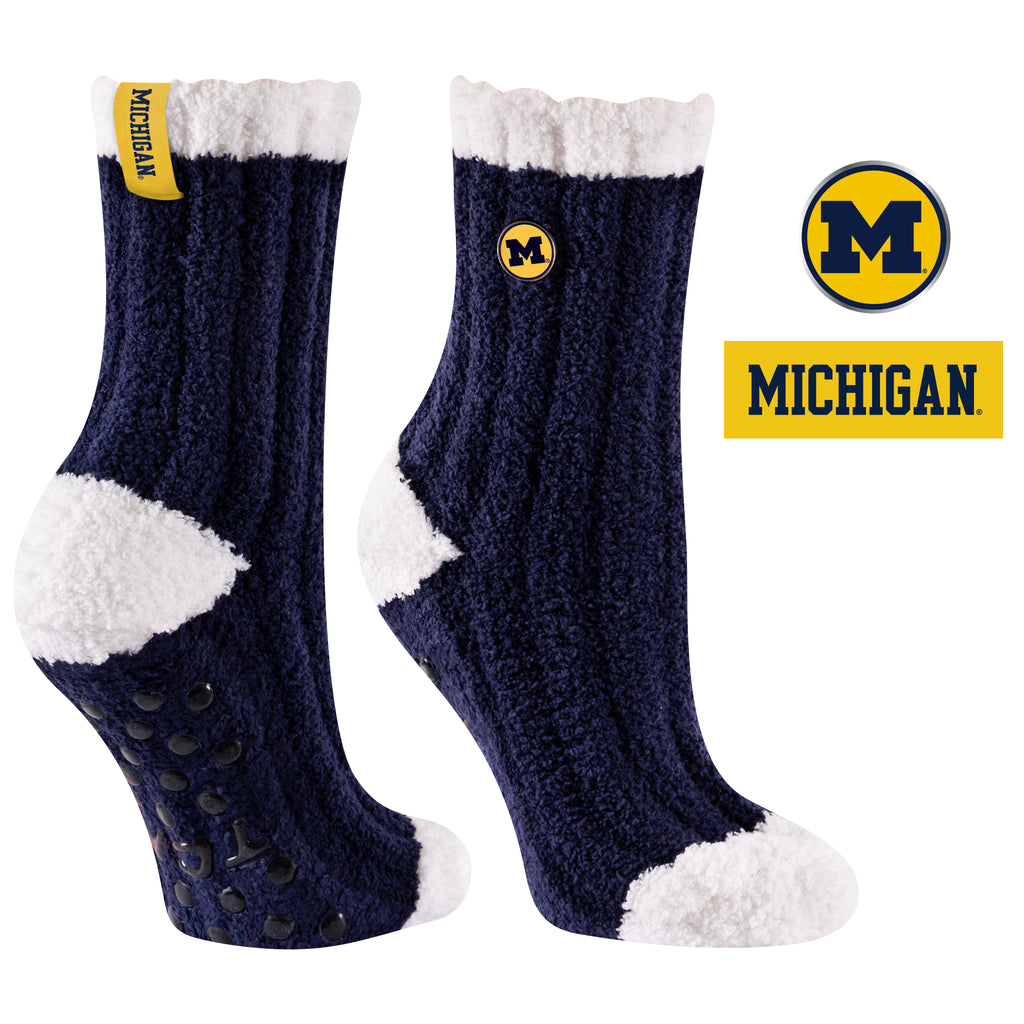University of Michigan Warm Fuzzy Cozy Crew Socks