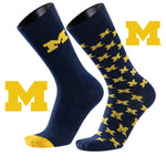 University of Michigan A Monday and a Tuesday 2-Pack Dress Socks
