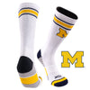 University of Michigan Greekster Performance Athletic Crew Socks