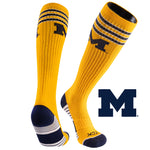 University of Michigan Old School Over the Calf Performance Athletic Socks