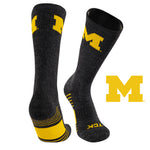 University of Michigan Far Trek Full Cushion Pure Merino Wool Crew Socks