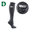 Dartmouth College Miss Zippy Zip Pocket Knee High in Charcoal/Black Random Knit