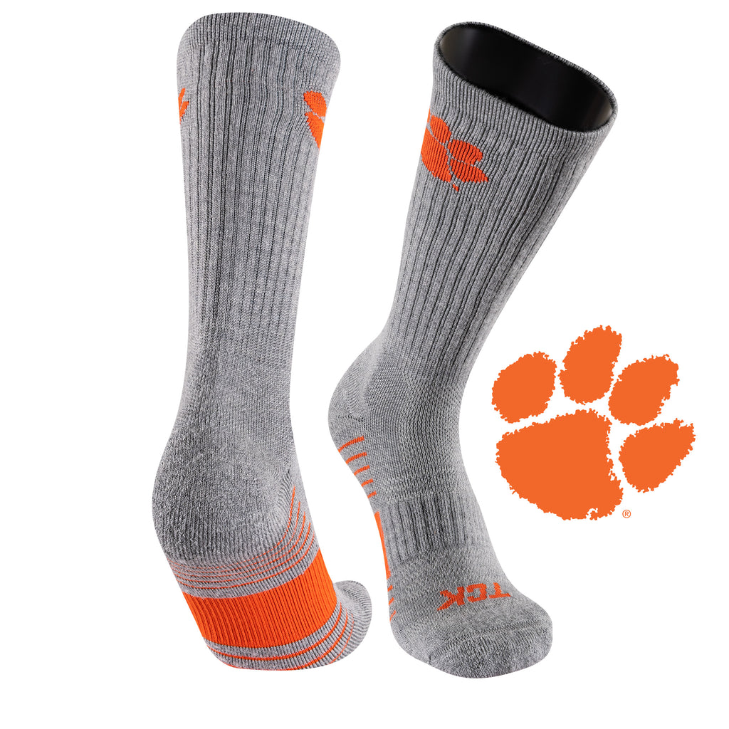 Clemson University Day Tripper Half Cushion Pure Merino Wool Crew Socks