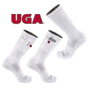 University of Georgia Stash & Dash Zip Pocket Performance Crew Sock in White