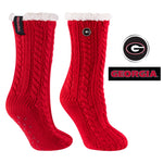 University of Georgia Miss Chalet Cable Knit Cozy Slipper Sock