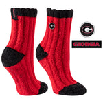 University of Georgia Warm Fuzzy Cozy Crew Socks