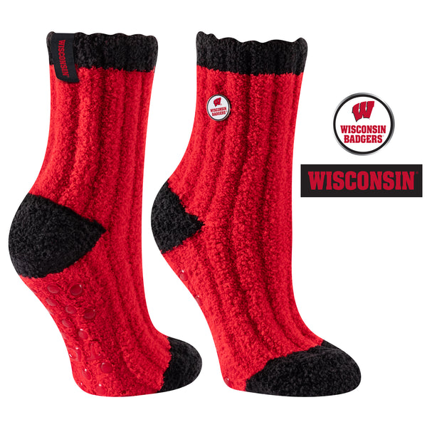 University of Wisconsin Warm Fuzzy Cozy Crew Socks