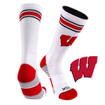 University of Wisconsin Greekster Performance Athletic Crew Socks