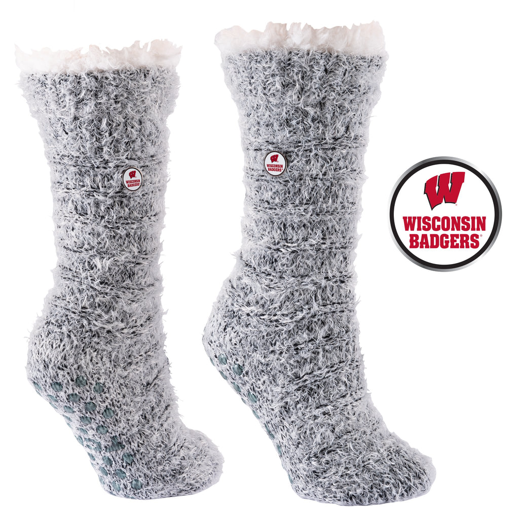 University of Wisconsin Snow Christie Sherpa-Lined Cozy Slipper Socks