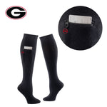 University of Georgia Miss Zippy Zip Pocket Knee High in Solid Black