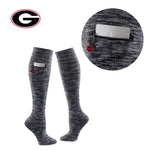 University of Georgia Miss Zippy Zip Pocket Knee High in Charcoal/Black Random Knit