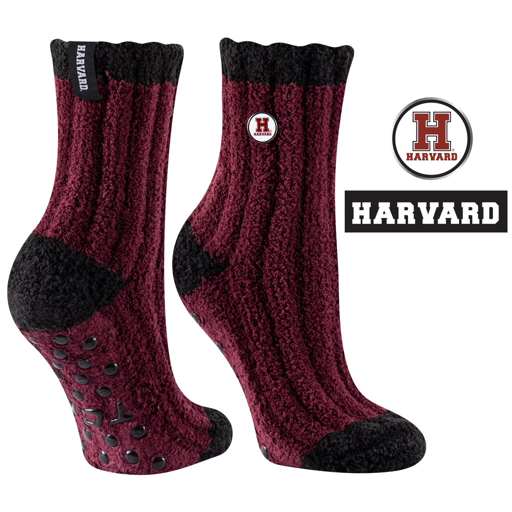 Harvard University Warm Fuzzy Cozy Crew Socks