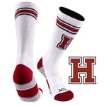 Harvard University Greekster Performance Athletic Crew Socks