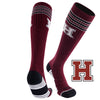 Harvard University Old School Over the Calf Performance Athletic Socks