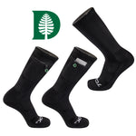 Dartmouth College Stash & Dash Zip Pocket Performance Crew Sock in Black