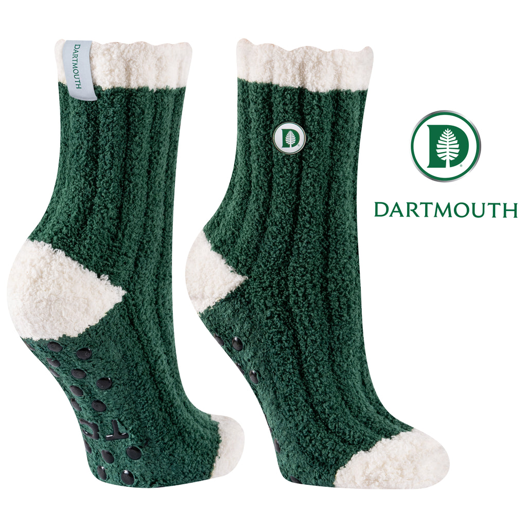 Dartmouth College Warm Fuzzy Cozy Crew Socks