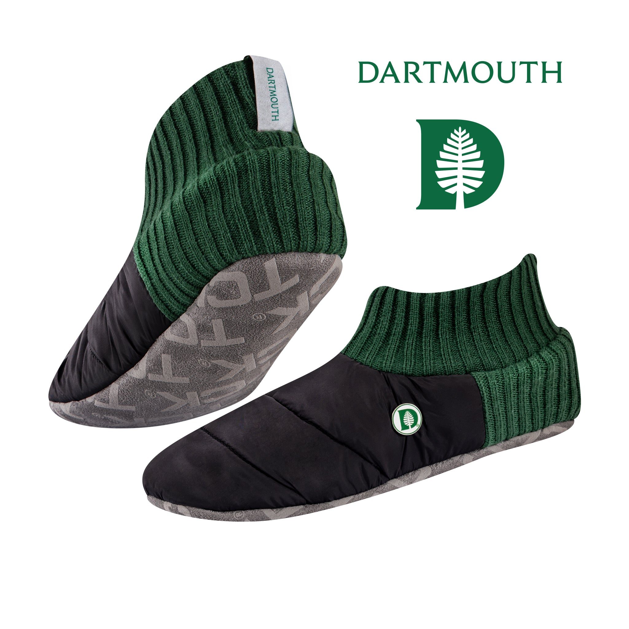 TCK Brands Happy Camper Cozy Quilted Slipper Socks with Memory Foam Cushion and Sherpa Lining