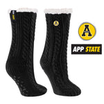 Appalachian State University Miss Chalet Cable Knit Cozy Slipper Sock