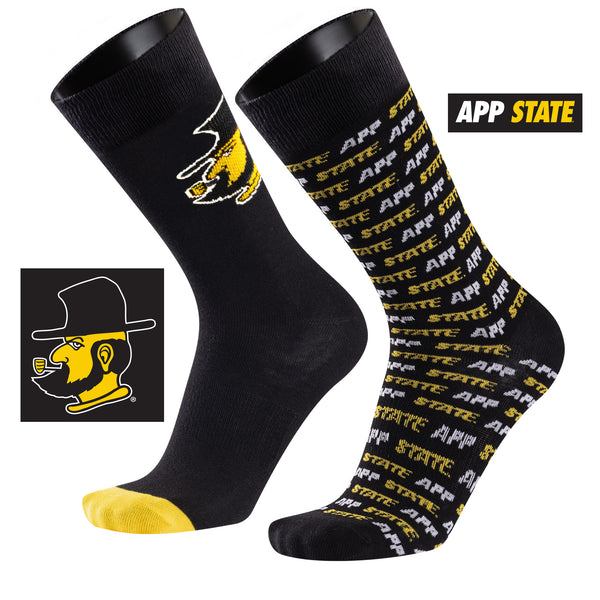 Appalachian State University A Monday and A Tuesday 2-Pack Dress Socks