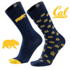 University of California Berkeley A Monday and A Tuesday 2-Pack Dress Socks