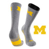 University of Michigan Day Tripper Half Cushion Pure Merino Wool Crew Socks