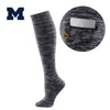 University of Michigan Miss Zippy Zip Pocket Knee High in Charcoal/Black Random Knit