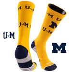 University of Michigan Team Screamer Performance Athletic Crew Socks