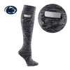 Penn State University Miss Zippy Zip Pocket Knee High in Charcoal/Black Random Knit