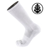 TCK Brands Stash & Dash Performance Crew Sock with Zip Pocket in White