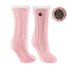 TCK Brands Miss Chalet Cable Knit Cozy Sock in Ballet Pink