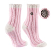 TCK Brands Warm Fuzzy Cozy Crew Sock in Ballet Pink