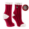 TCK Brands Warm Fuzzy Cozy Crew Sock in Cardinal Red
