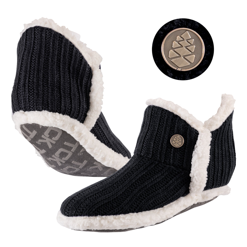 TCK Brands Alpenglow Cozy Sherpa Lined Slipper Sock