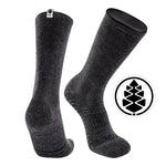 TCK Brands Far Trek Full Cushion Pure Merino Wool Crew Sock in Charcoal Heather