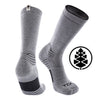 TCK Brands Far Trek Full Cushion Pure Merino Wool Crew Sock in Grey Heather